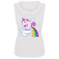 Женская майка Unicorn and Rainbow