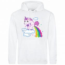 Мужская толстовка Unicorn and Rainbow