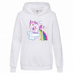 Женская толстовка Unicorn and Rainbow