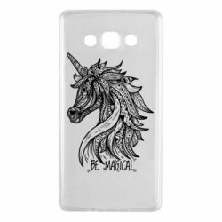 Чехол для Samsung A7 2015 Unicorn and text