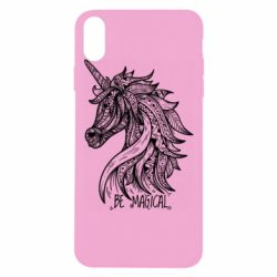 Чехол для iPhone Xs Max Unicorn and text