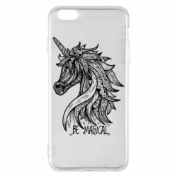 Чехол для iPhone 6 Plus/6S Plus Unicorn and text