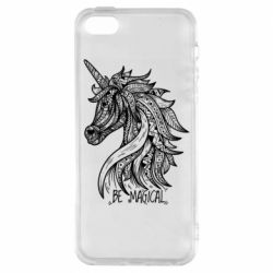 Чехол для iPhone5/5S/SE Unicorn and text