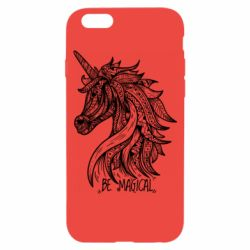 Чехол для iPhone 6/6S Unicorn and text