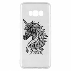 Чехол для Samsung S8 Unicorn and text