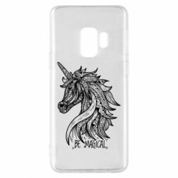 Чехол для Samsung S9 Unicorn and text