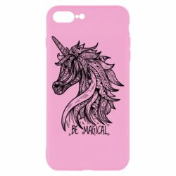Чехол для iPhone 8 Plus Unicorn and text