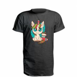 Удлиненная футболка Unicorn Christmas