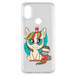 Чехол для Xiaomi Mi A2 Unicorn Christmas