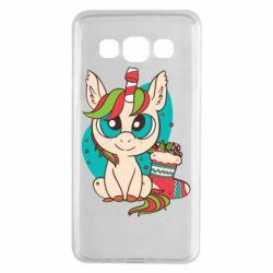 Чехол для Samsung A3 2015 Unicorn Christmas