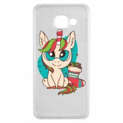 Чехол для Samsung A3 2016 Unicorn Christmas