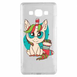 Чехол для Samsung A5 2015 Unicorn Christmas