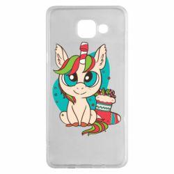 Чехол для Samsung A5 2016 Unicorn Christmas