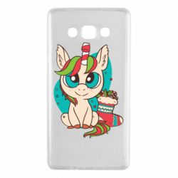 Чехол для Samsung A7 2015 Unicorn Christmas