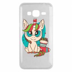 Чехол для Samsung J3 2016 Unicorn Christmas