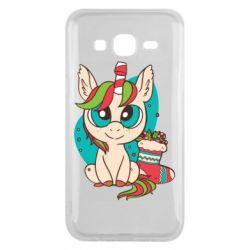 Чехол для Samsung J5 2015 Unicorn Christmas