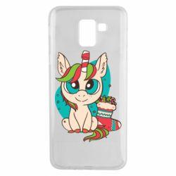 Чехол для Samsung J6 Unicorn Christmas