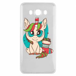 Чехол для Samsung J7 2016 Unicorn Christmas
