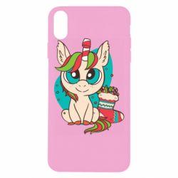 Чехол для iPhone Xs Max Unicorn Christmas