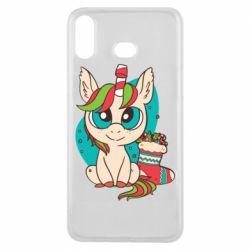 Чехол для Samsung A6s Unicorn Christmas