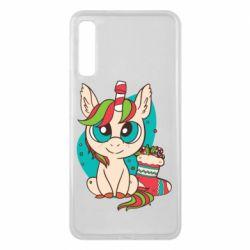 Чехол для Samsung A7 2018 Unicorn Christmas