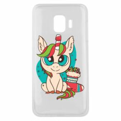 Чехол для Samsung J2 Core Unicorn Christmas
