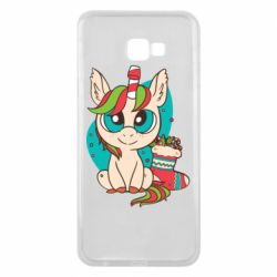 Чехол для Samsung J4 Plus 2018 Unicorn Christmas