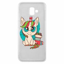 Чехол для Samsung J6 Plus 2018 Unicorn Christmas