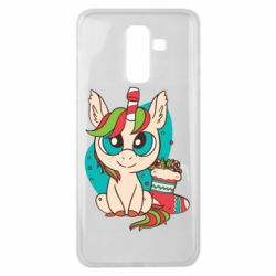 Чехол для Samsung J8 2018 Unicorn Christmas