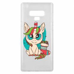 Чехол для Samsung Note 9 Unicorn Christmas