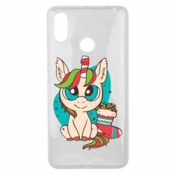 Чехол для Xiaomi Mi Max 3 Unicorn Christmas