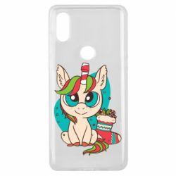 Чехол для Xiaomi Mi Mix 3 Unicorn Christmas
