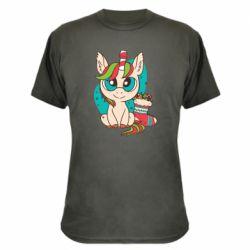 Камуфляжная футболка Unicorn Christmas