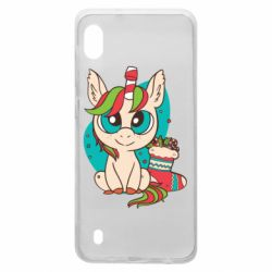 Чехол для Samsung A10 Unicorn Christmas