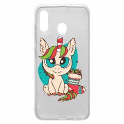 Чехол для Samsung A30 Unicorn Christmas