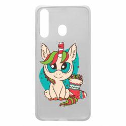 Чехол для Samsung A60 Unicorn Christmas