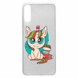 Чехол для Samsung A70 Unicorn Christmas