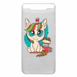 Чехол для Samsung A80 Unicorn Christmas