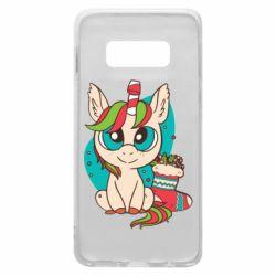 Чехол для Samsung S10e Unicorn Christmas