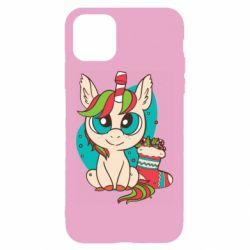 Чехол для iPhone 11 Unicorn Christmas