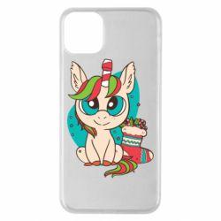 Чехол для iPhone 11 Pro Max Unicorn Christmas
