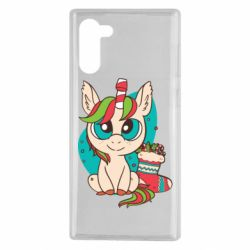 Чехол для Samsung Note 10 Unicorn Christmas