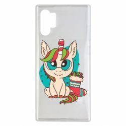 Чехол для Samsung Note 10 Plus Unicorn Christmas