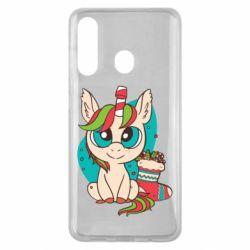 Чехол для Samsung M40 Unicorn Christmas