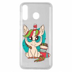 Чехол для Samsung M30 Unicorn Christmas