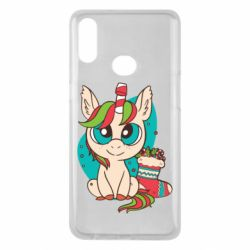 Чехол для Samsung A10s Unicorn Christmas