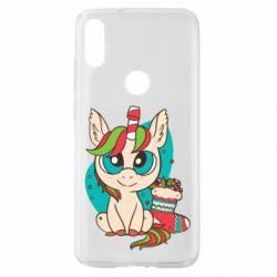Чехол для Xiaomi Mi Play Unicorn Christmas