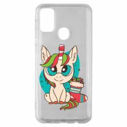Чехол для Samsung M30s Unicorn Christmas