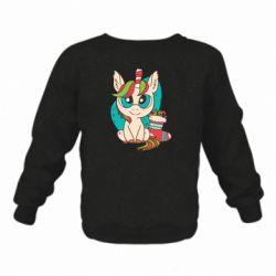 Детский реглан (свитшот) Unicorn Christmas