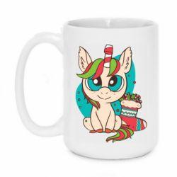 Кружка 420ml Unicorn Christmas